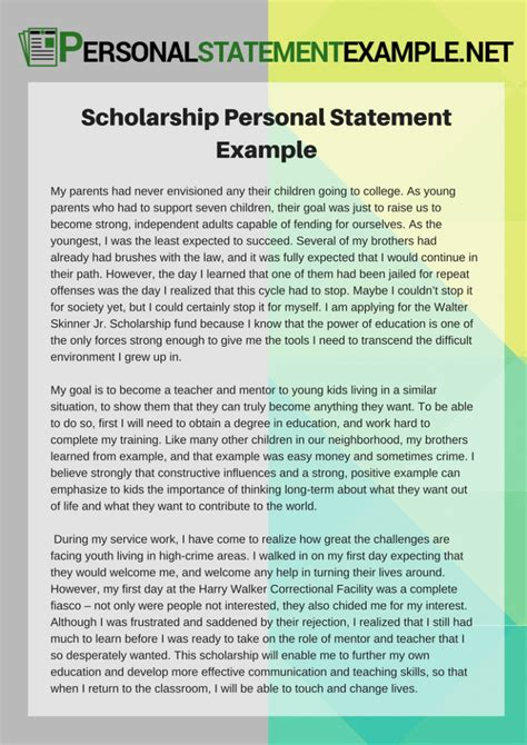sle personal financial statement financial aid scholarship essay sles 28 images