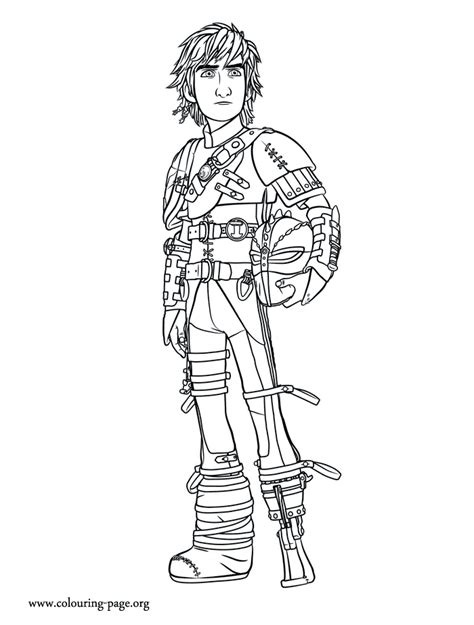 Coloring Page How To Train Your Dragon 2 | how to train your dragon 2 older hiccup coloring page