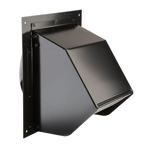 6 inch duct fan lowes broan 6 in wall cap in black 843bl the home depot