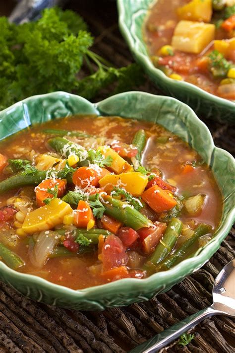 the easiest vegetable soup recipe dishmaps