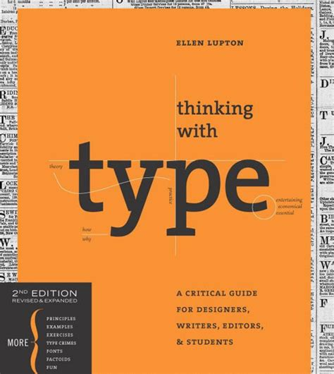 thinking with type second 1568989695 typography books from which you can learn about this beautiful art