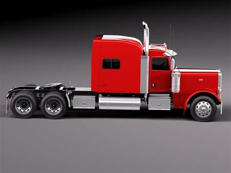 Peterbilt Studio Sleeper by Peterbilt 389 Sleeper Cab 2015 3d Model Cgstudio