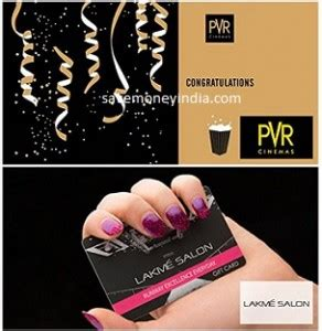 Pvr Gift Card - pvr cinemas lakme email gift card rs 200 off on rs 500 amazon savemoneyindia
