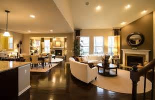 Open Floor Plans New Homes Open Floor Plan Layout All Hardwood Floors Through To