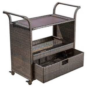 Patio Serving Cart by Corona Wicker Outdoor Serving Cart Brown Christopher