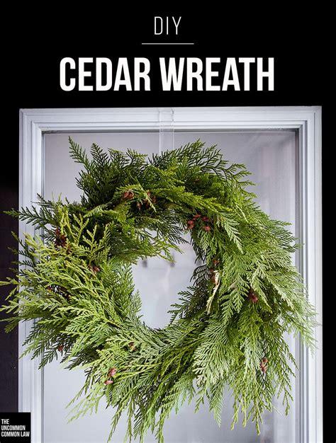 how to make xmas cedar swags make your own fresh cedar wreath with this diy tutorial a modern simple fresh wreath to add a