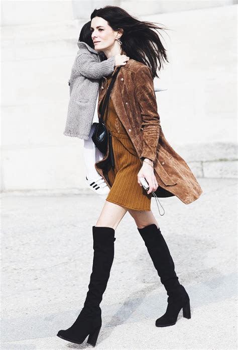 how to style the knee boots closetful of clothes