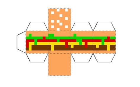 How To Make A Paper Hamburger - papercraft burger v2