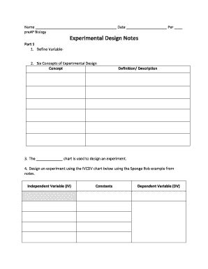Fillable Online Sites Stedwards Experimental Design Notes St Edwards University Sites Sites Ivcdv Chart Template