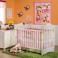 Green And Brown Monkey Crib Bedding by Baby S Nursery On Crib Bedding Sets Baby