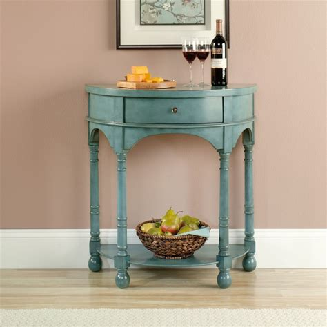 Teal Entryway Table Entry Table In Antiqued Teal 417132