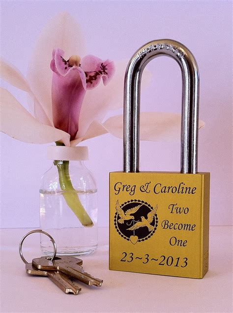 Wedding Gift Unique by Engraved Padlocks Locks From Engraved Padlocks Are