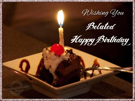 Wishing A Happy Birthday Wishing You Belated Happy Birthday Nicewishes Com
