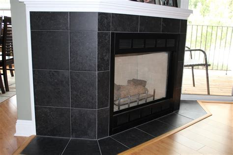 black tile fireplace beth d new jersey custom tile