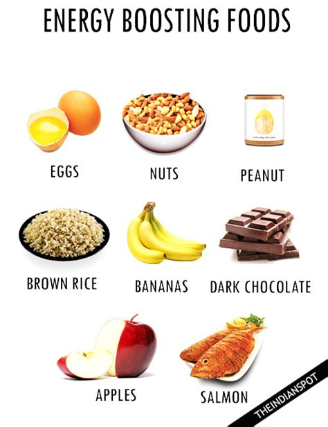list  energy boosting foods