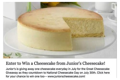 coupons juniors cheesecake