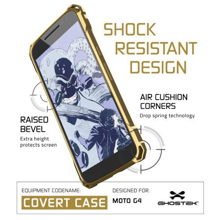 Sgp Spigen Motorola Moto G Gold Promo Eksklusif ghostek covert moto g4 bumper clear gold mobile ireland