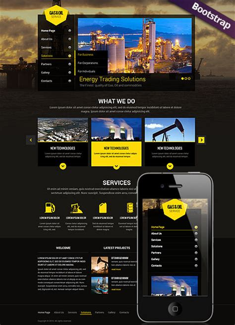 Gas And Oil Html Website Template Best Website Templates And Gas Company Website Template