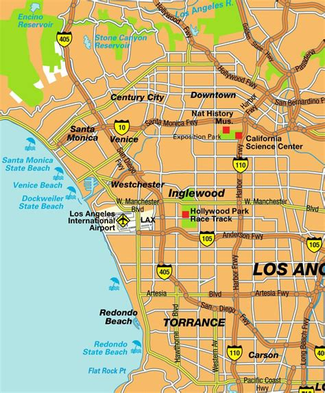 california map los angeles mapa de los angeles usa