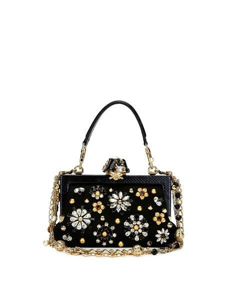 The Dolce Gabbana Transparent Patent Convertible Bag by Dolce Gabbana Vanda Small Jeweled Top Handle Evening Bag