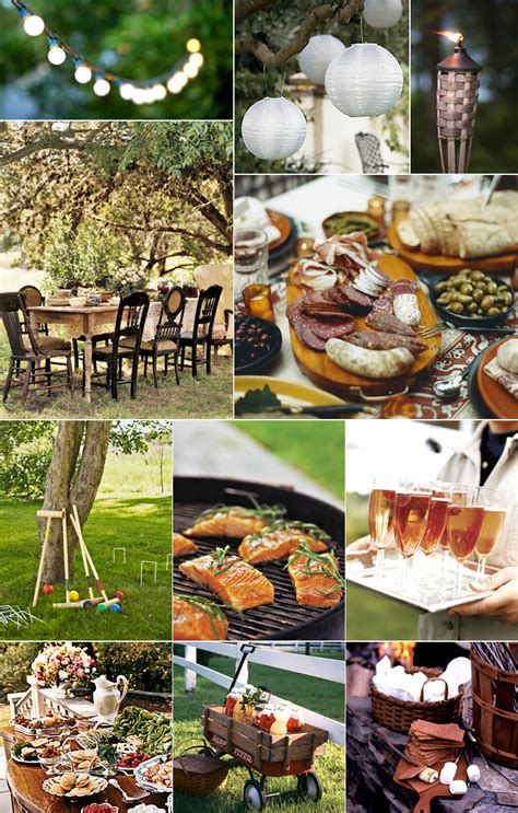 outdoor party outdoor rustic decor simple home decoration