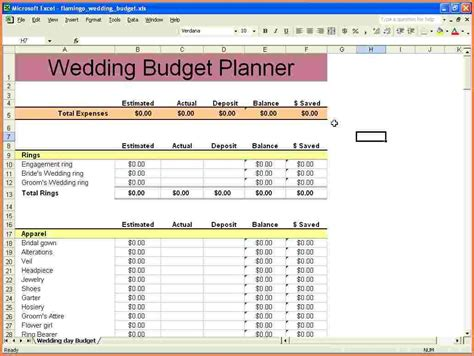 Excel Wedding Budget Template 9 wedding budget excel spreadsheet excel spreadsheets
