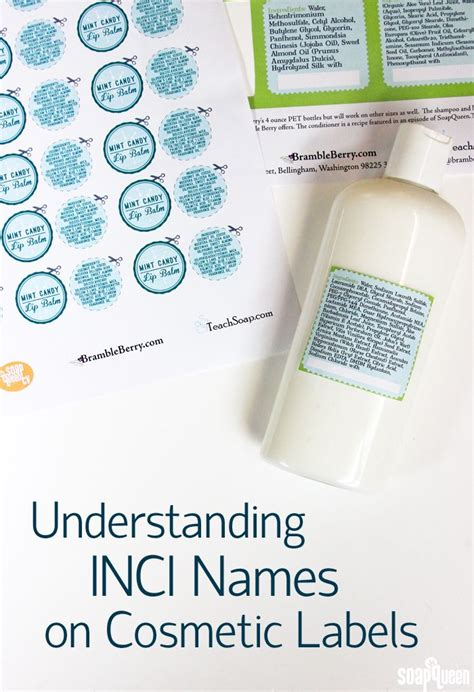 understanding inci names on cosmetic labels cosmetic