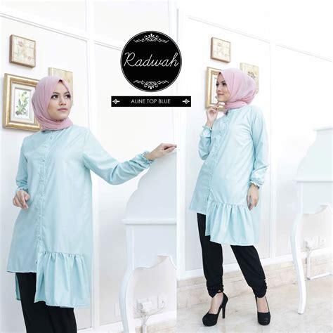 Baju Muslim Wanita Aline koleksi busana muslimah baju muslim radwah aline top