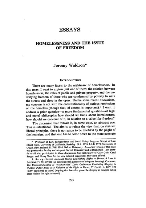 homeless research paper author and the to essays custom central valley