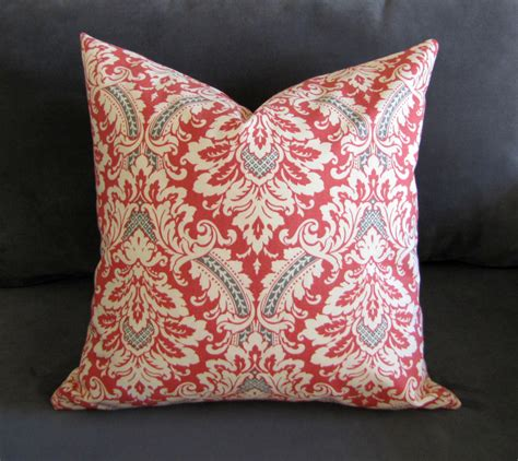 orange pillows for couch burnt orange throw pillow damask print sofa pillow by