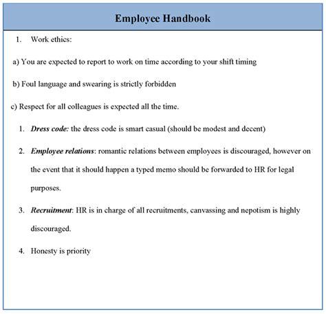 Employee Handbook Template   lisamaurodesign