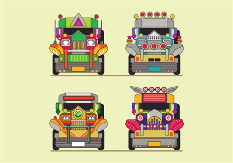 philippines jeepney vector philippine jeep icon or jeepney front view download free
