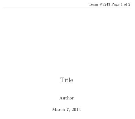 report title page sle header footer using fancyhdr in titlepage using report