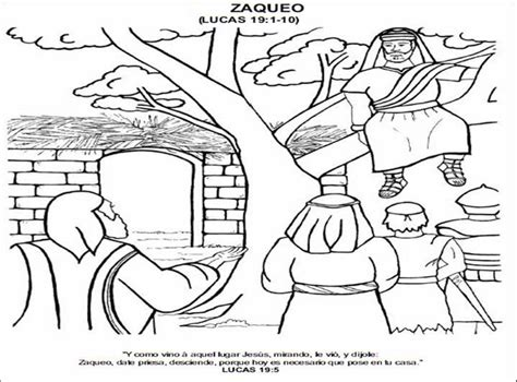 imagenes cristianas para niños para colorear dibujo de zaqueo para colorear dibujos infantiles