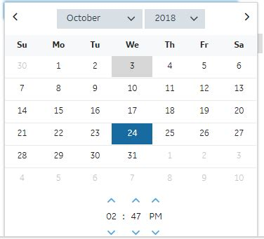p calendar hour format doesnt reflect time