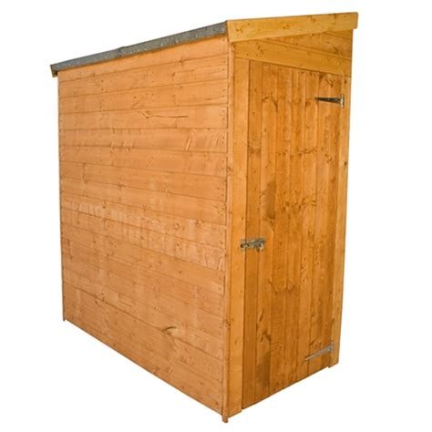 Pent Shed 6 X 3 by 6 X 3 Tongue And Groove Pent Shed No Front Doors