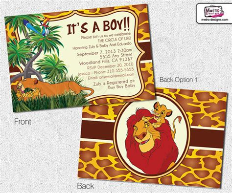 the gallery for gt lion king baby shower invitations