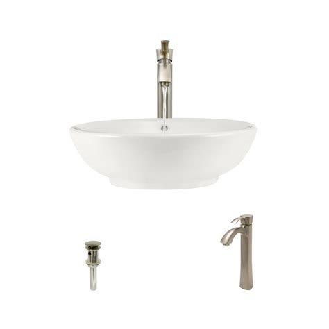 mr direct vessel sinks mr direct porcelain vessel in bisque with 726 faucet