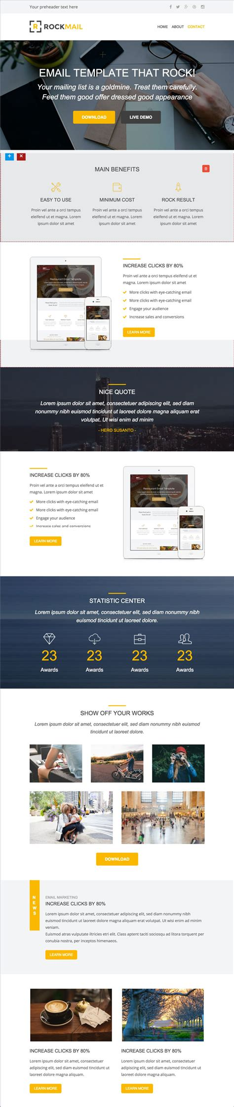 email layout builder 35 best responsive email templates 2015