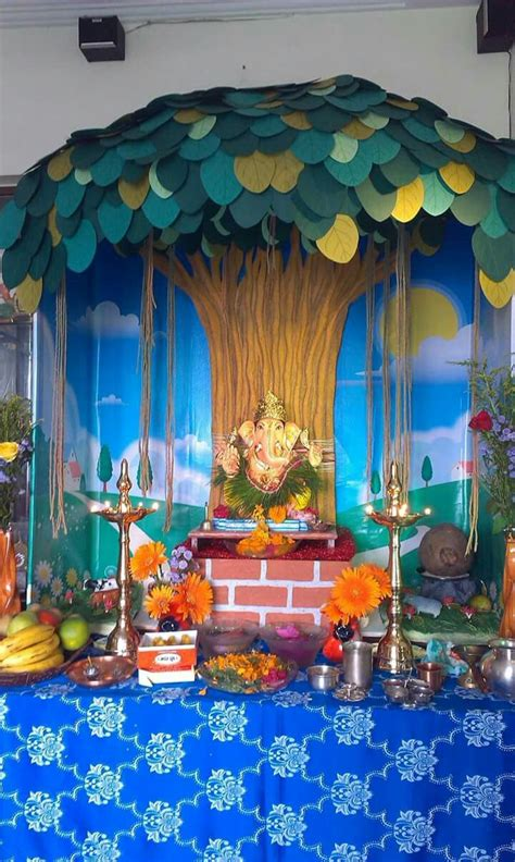 pin  pooja pathak  decoration ganapati decoration