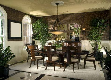 tropical style dining room ideas  homeporio