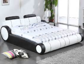 Wheels Truck Bedding King Size Contemporary Real Leather Bed W X6 Car Wheel