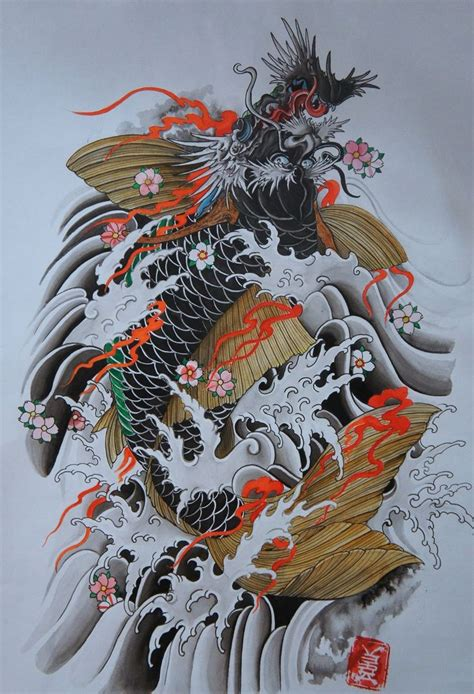 japanese koi dragon tattoo designs 117 best koi images on fish tattoos japan