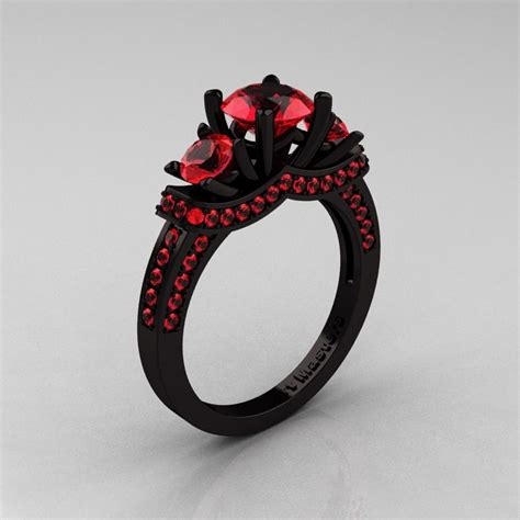 Black Wedding Rings by Black Band Ruby Engagement Rings Www Pixshark