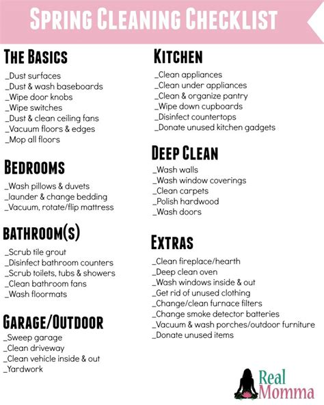 cleaning supplies checklist simple tips to make spring cleaning easy real momma