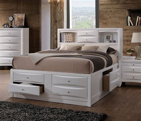 white king storage bed acme furniture ireland white king storage bed the classy