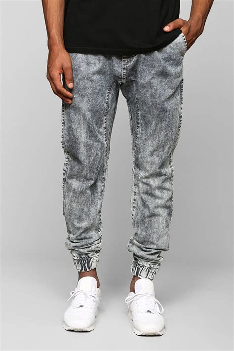 Ziya Jogger Pant Acid Joger Blue Jean zanerobe munk trunk jogger pant in blue for lyst