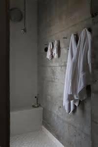 concrete bath with white tile bathrooms