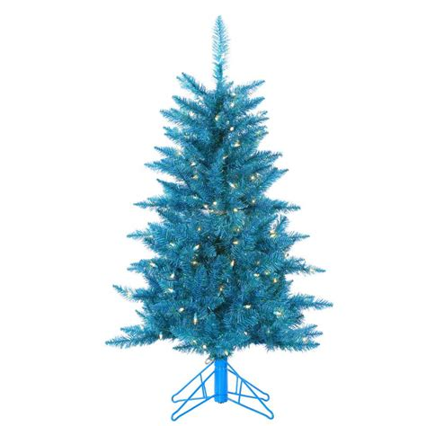 sterling christmas tree lights sterling 4 ft pre lit teal tinsel artificial christmas