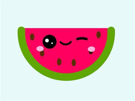 imagenes de frutas kawaii kawaii watermelon watermelon pinterest sandia